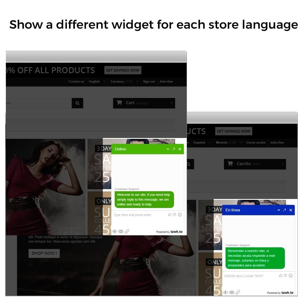 module - Support & Online-Chat - Tawk.to - Live chat integration - Multilanguage - 4