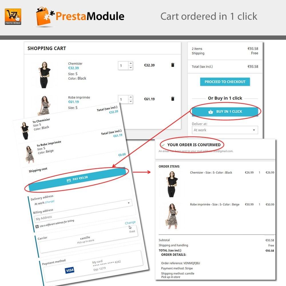 module - Pagamento por cartão ou por carteira - One Click Order - Compra com um clique - 2
