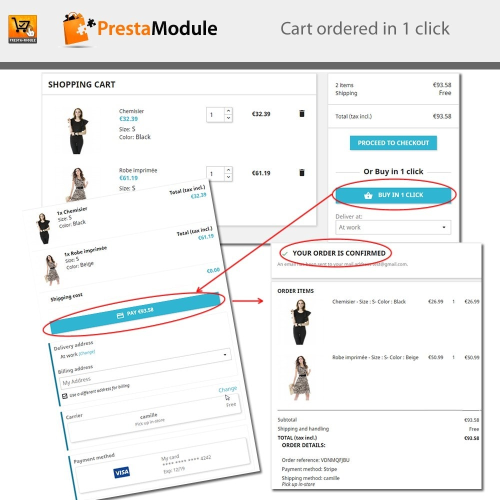 module - Express Checkout - One Click Order - 2