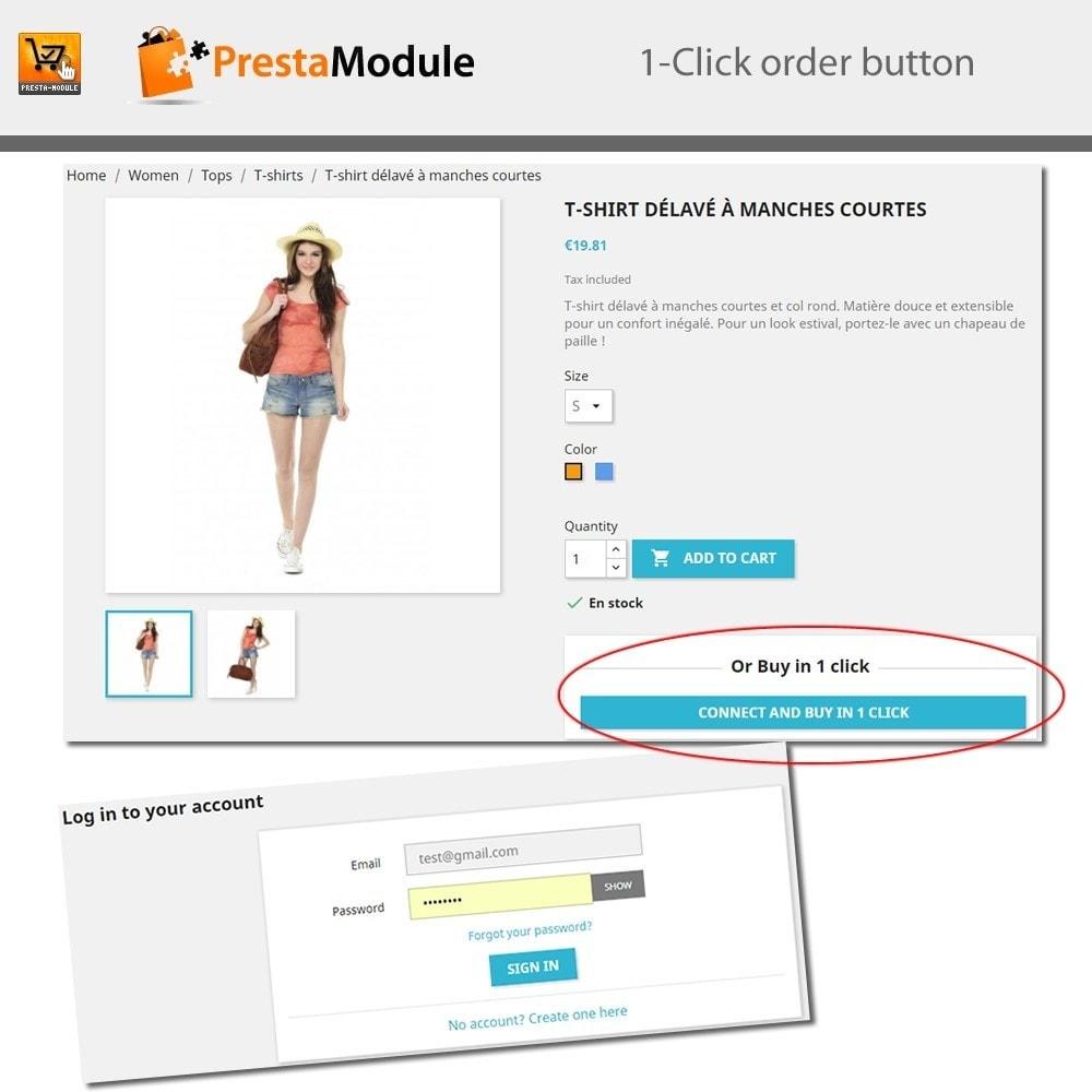 module - Pagamento por cartão ou por carteira - One Click Order - Compra com um clique - 7