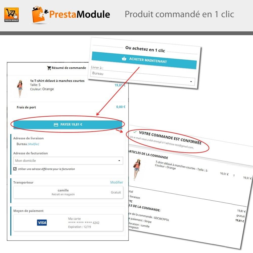 module - Paiement par Carte ou Wallet - One Click Order - 1