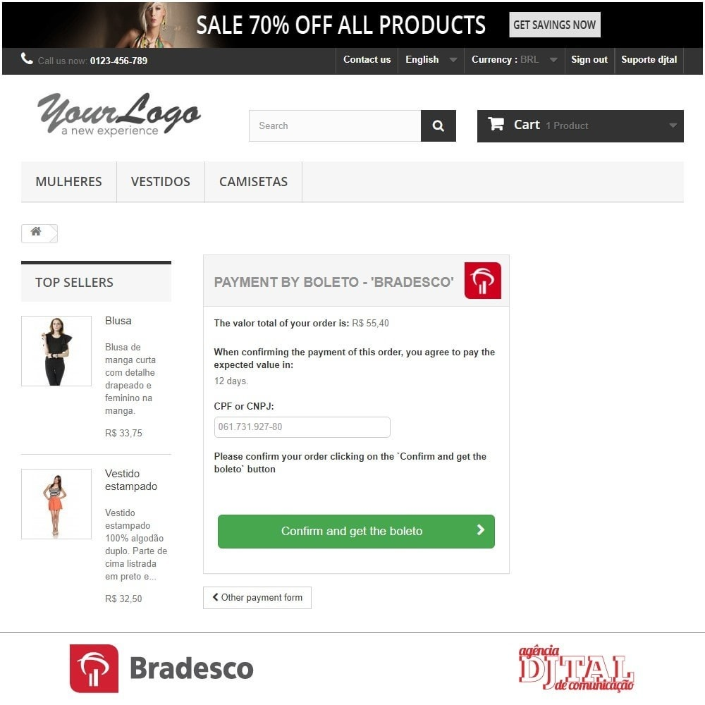module - Payment by Card or Wallet - SPS Bradesco - 5