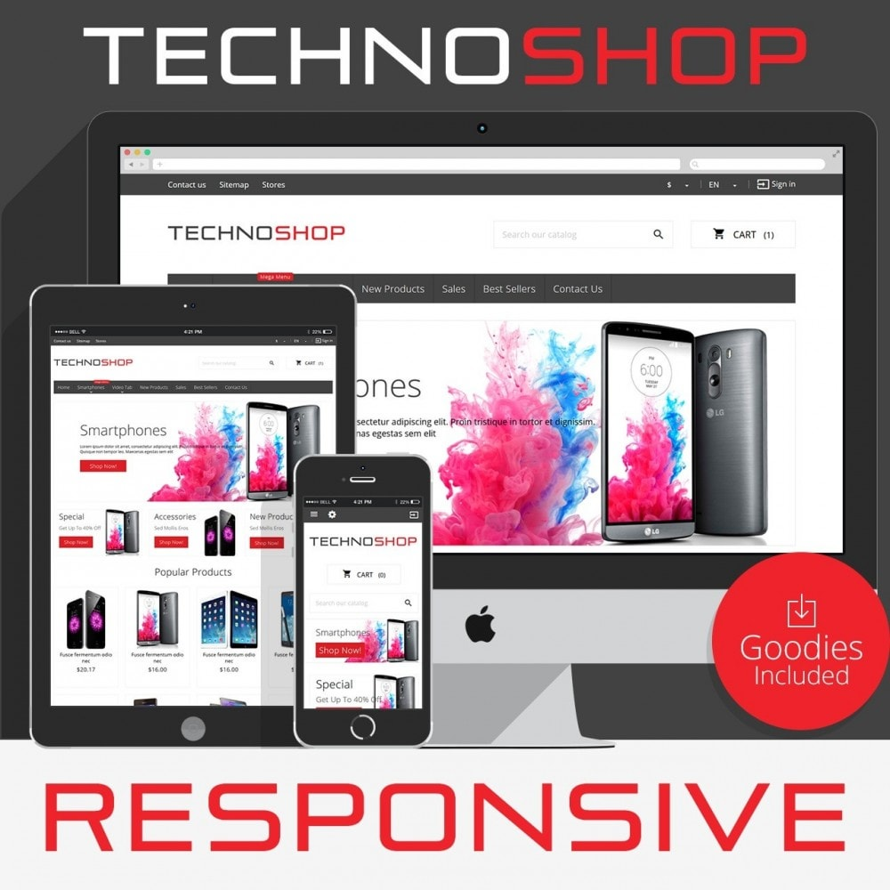 theme - Eletrônicos & High Tech - TechnoShop - 1