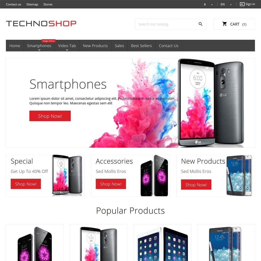theme - Elektronica & High Tech - TechnoShop - 2