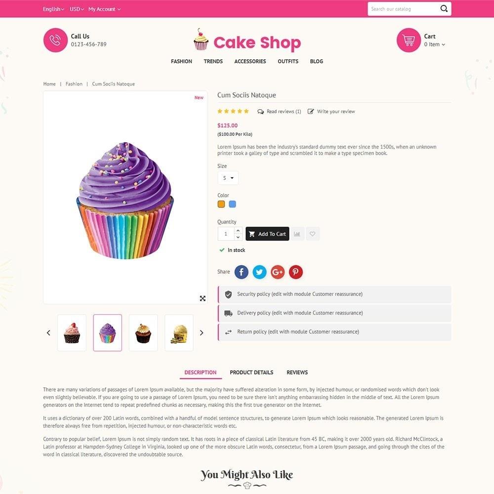theme - Продовольствие и рестораны - Cake Store - 5