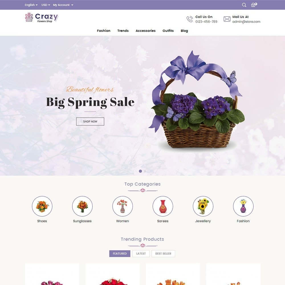 theme - Gifts, Flowers & Celebrations - Crazy Flower Store - 2