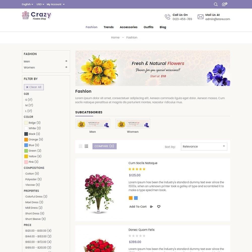 theme - Presentes, Flores & Comemorações - Crazy Flower Store - 4