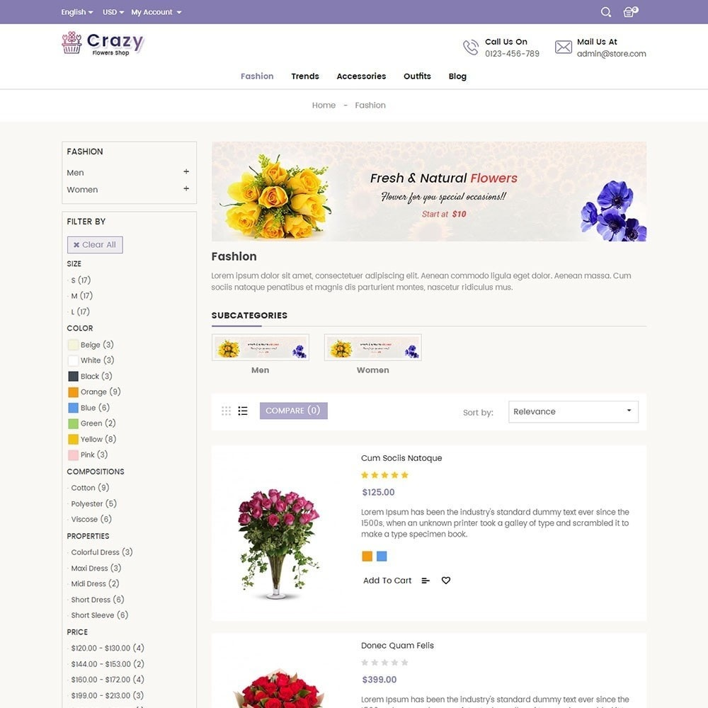 theme - Regali, Fiori & Feste - Crazy Flower Store - 4