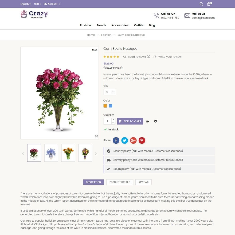 theme - Gifts, Flowers & Celebrations - Crazy Flower Store - 5