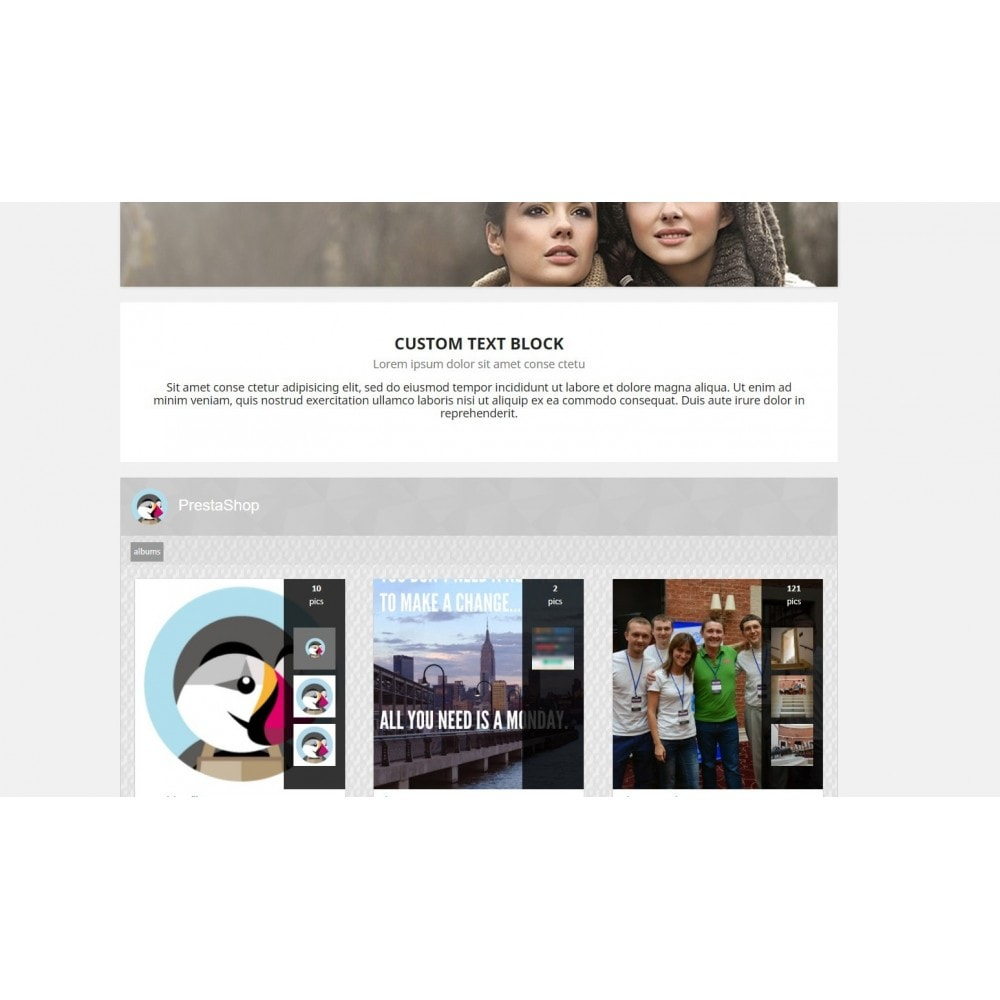 module - Sliders y Galerías de imágenes - Google + Wall - 3