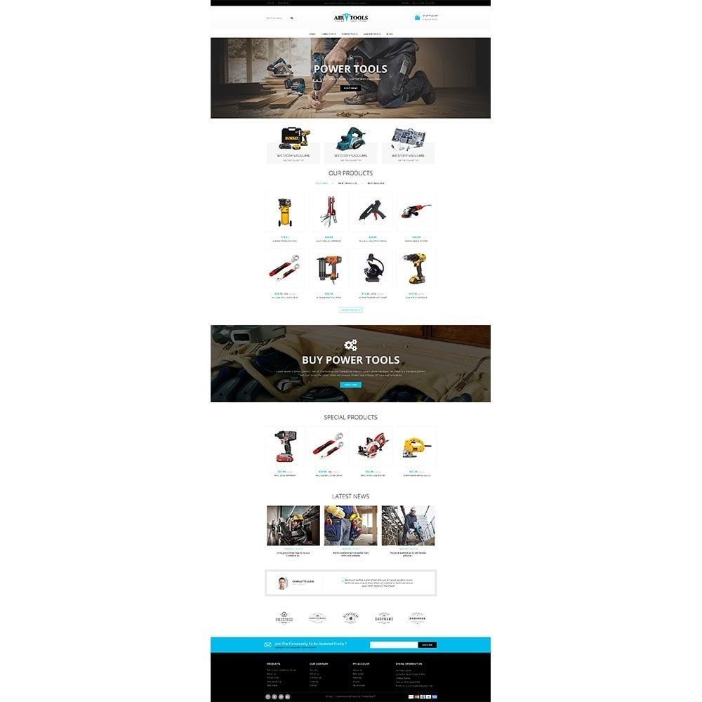 theme - Auto & Moto - Air Tools Store V2 - 2