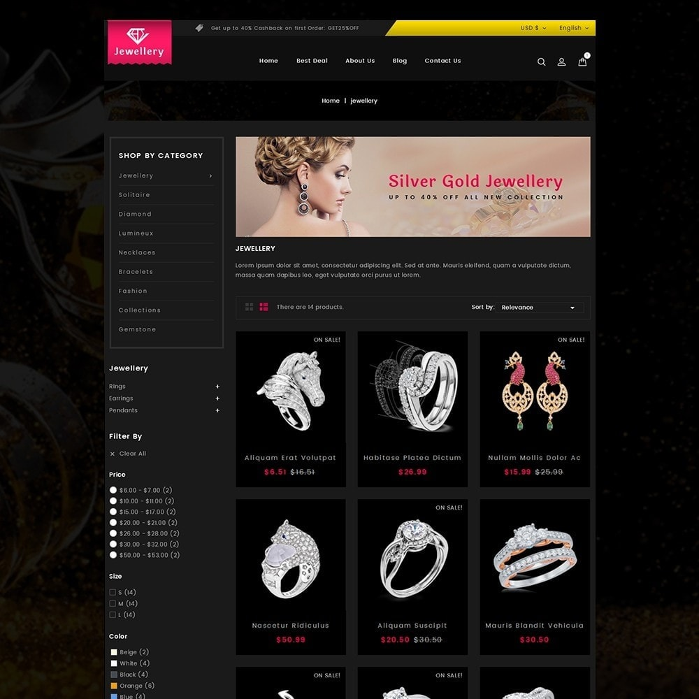 theme - Ювелирные изделия и Аксессуары - Jewelry Store - 3