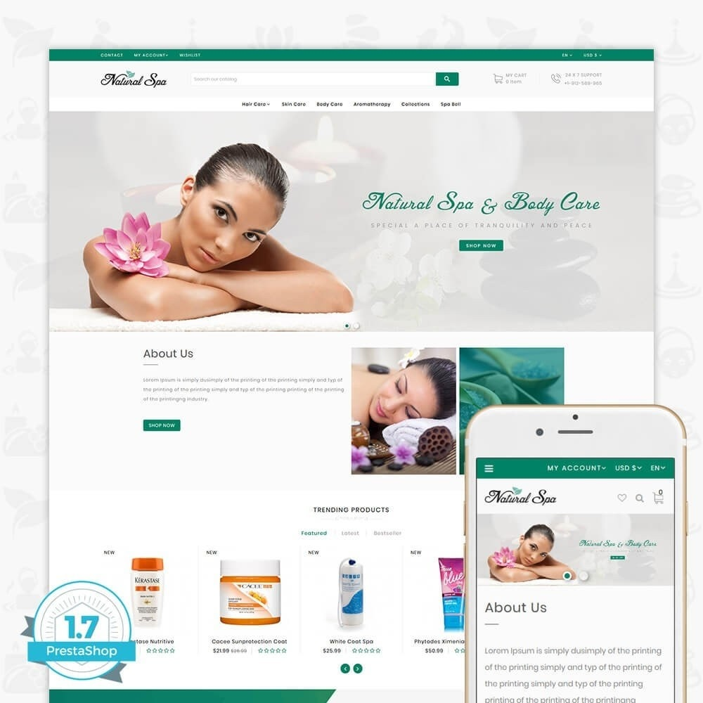 theme - Health & Beauty - Natural Spa - 1