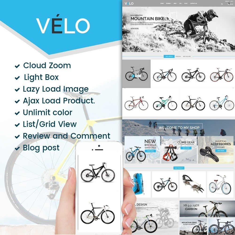 theme - Sports, Activities & Travel - VeLo Bike Sport Store - 1