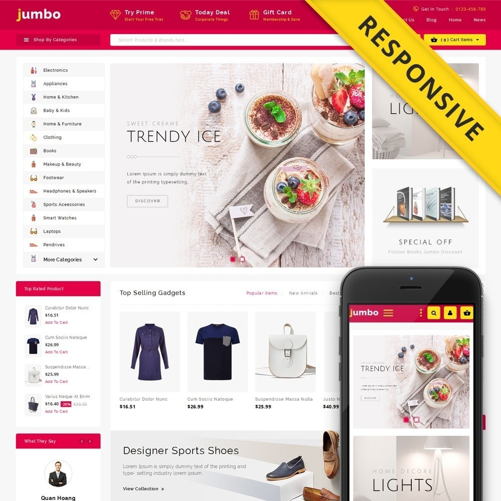 theme - Electrónica e High Tech - Jumbo Multi Purpose Store - 1