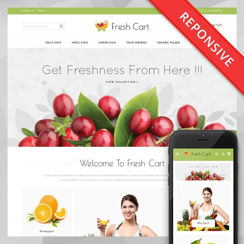theme - Lebensmittel & Restaurants - Fresh Cart Food Store - 1