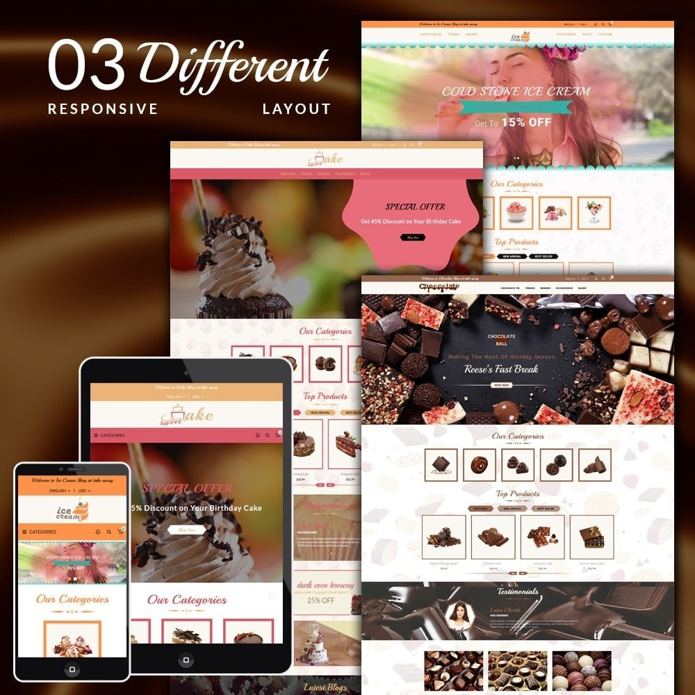 theme - Cibo & Ristorazione - Dessert Store - 1