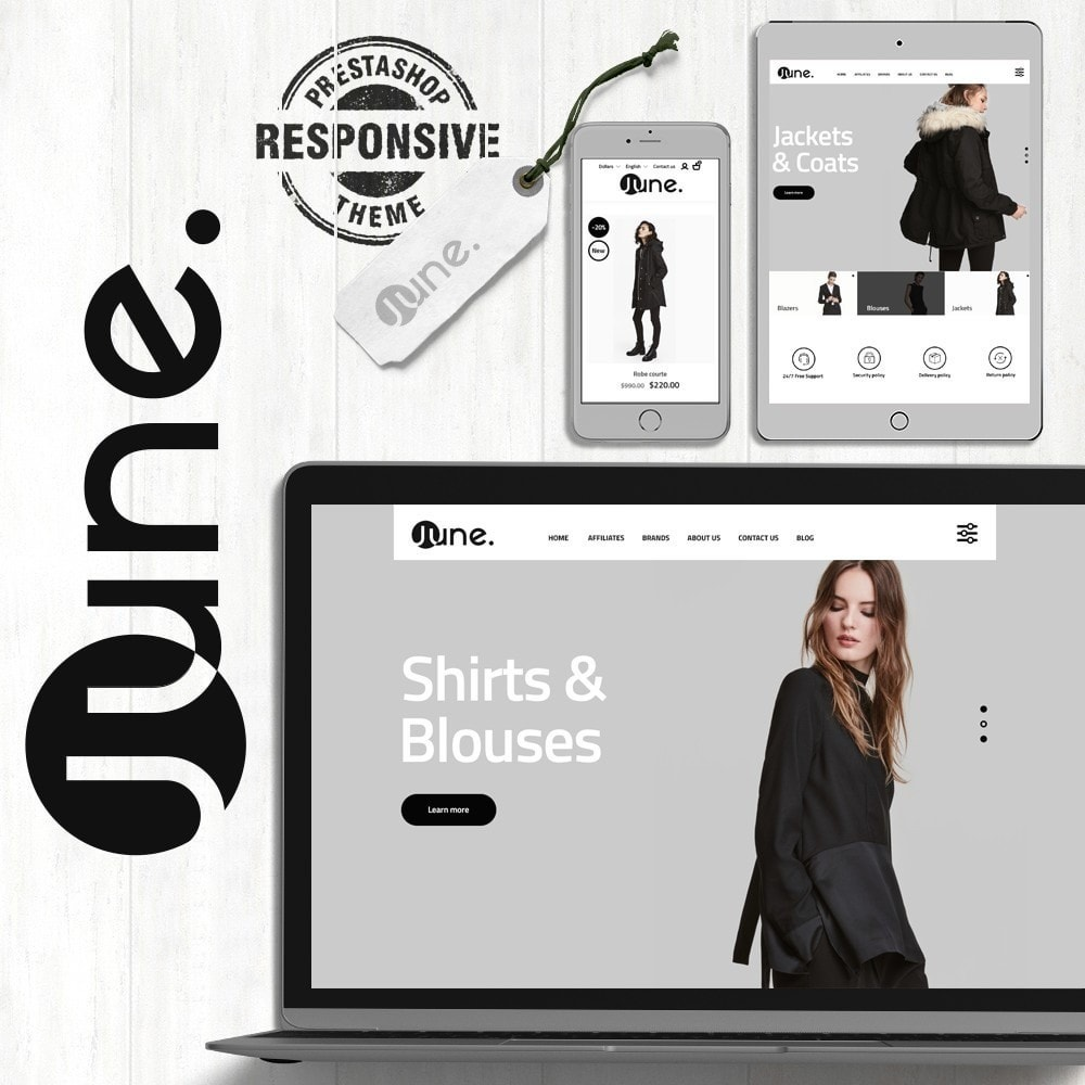 theme - Мода и обувь - June Fashion Store - 1