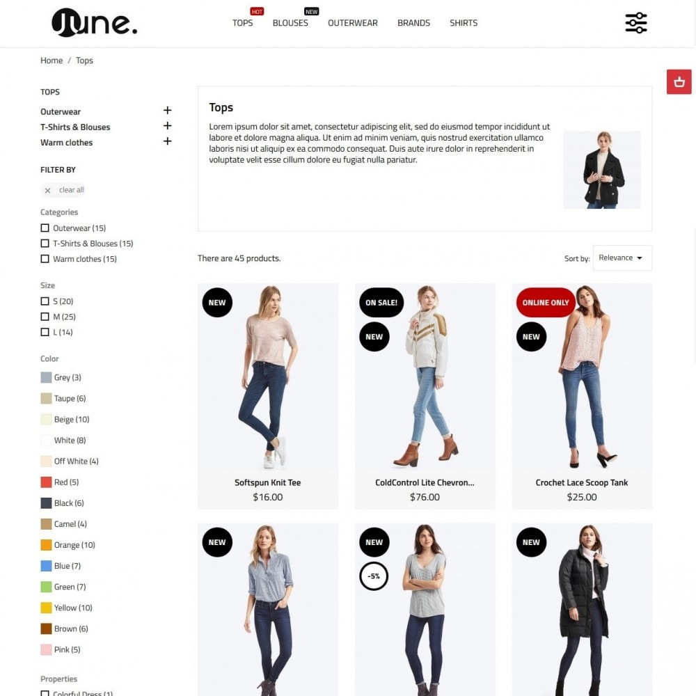 theme - Мода и обувь - June Fashion Store - 5