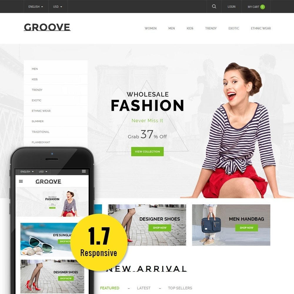 theme - Mode & Chaussures - GrooveFashion Store - 1