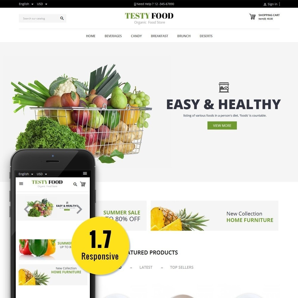 theme - Alimentation & Restauration - TestyFood - 1