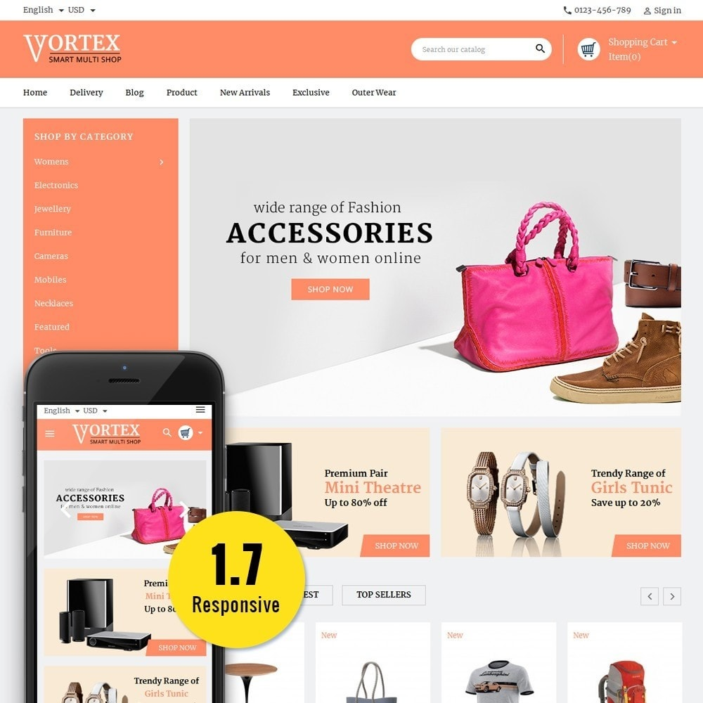 theme - Mode & Schoenen - Vortex Smart Multishop - 1