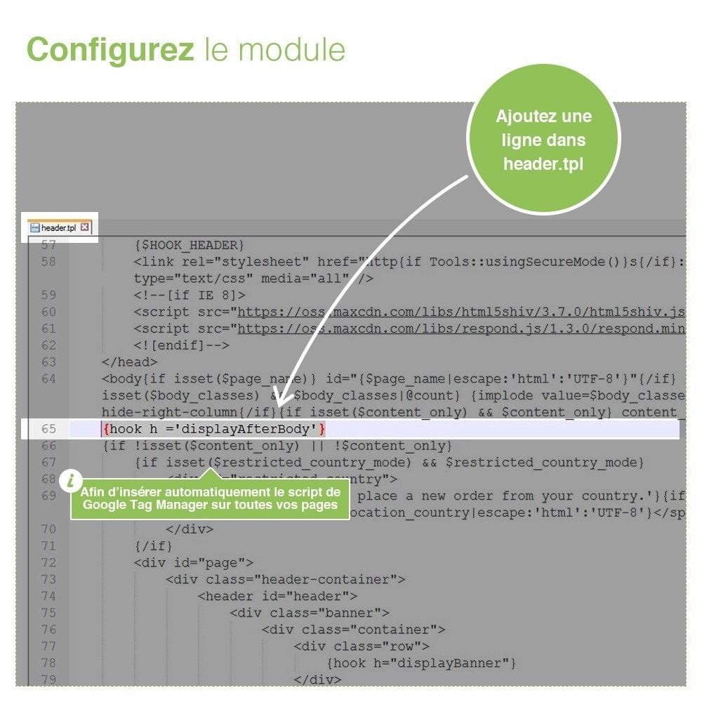 module - Analyses & Statistiques - Google Tag Manager - Gestionnaire de Balises - 4