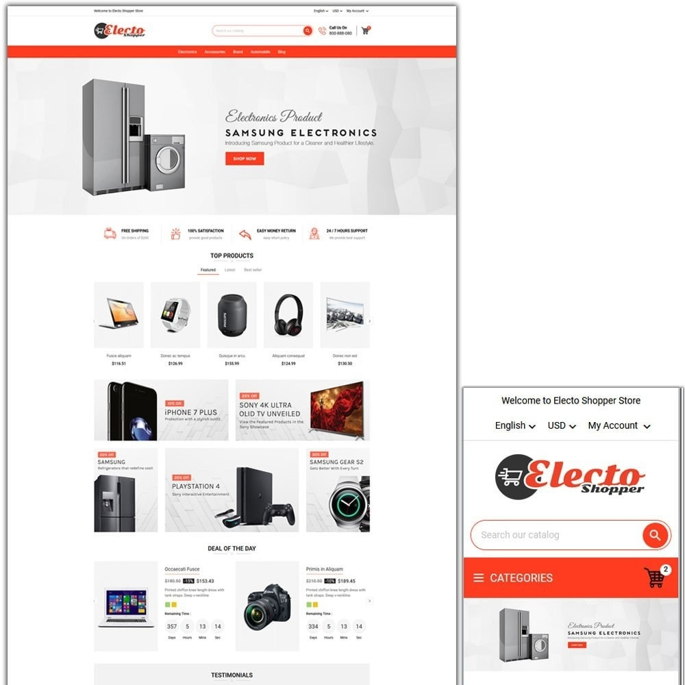 theme - Elektronika & High Tech - Electo Shopper Store - 1