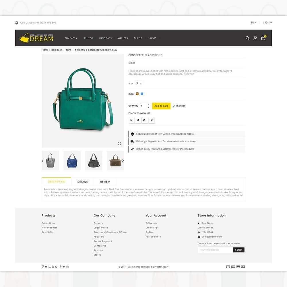 theme - Sport, Loisirs & Voyage - Dream Bag Store - 5