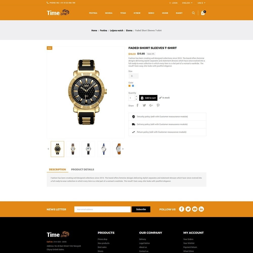 theme - Moda y Calzado - Time Zone Watch Store - 5