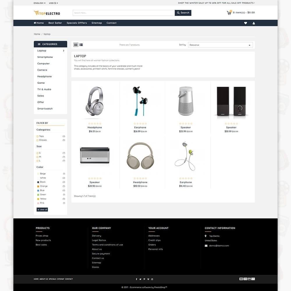 theme - Elektronik & High Tech - TopElectro Electronics Store - 3