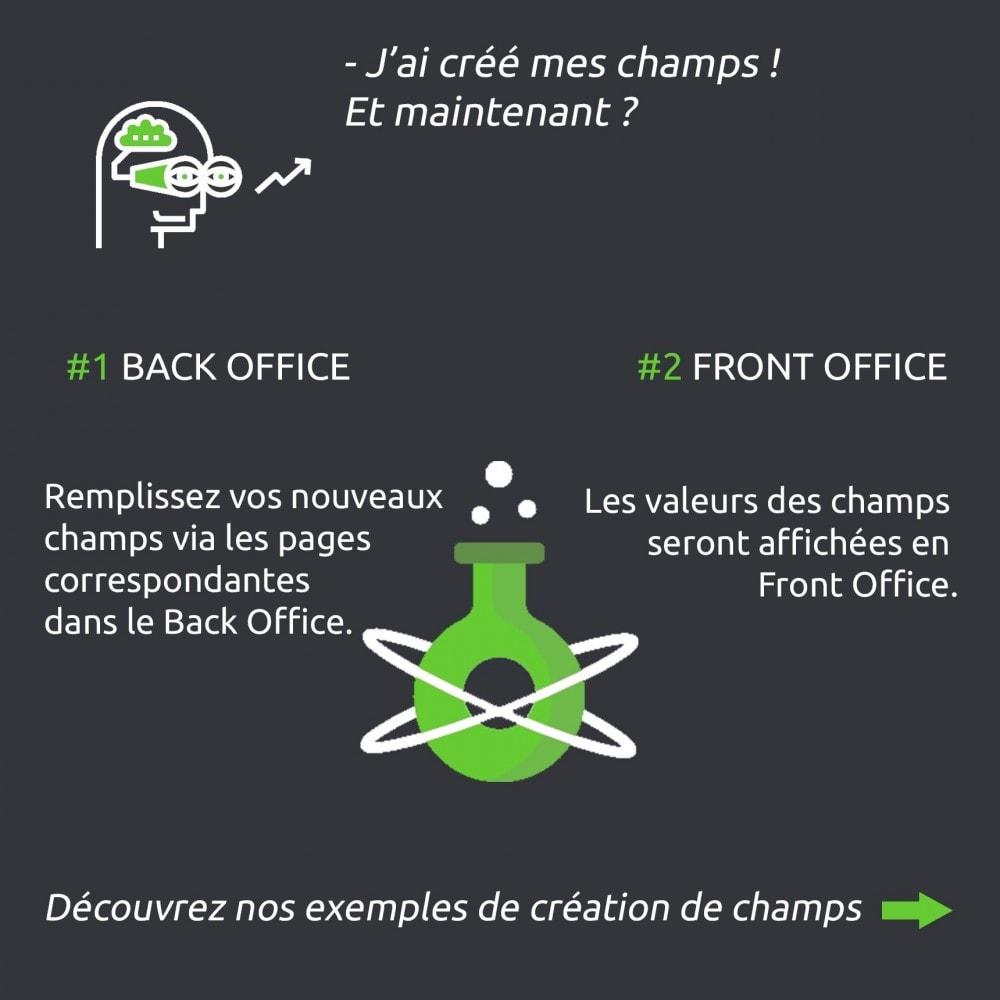 module - Information supplémentaire & Onglet produit - Champs personnalisés avancés : créer de nouveaux champs - 6