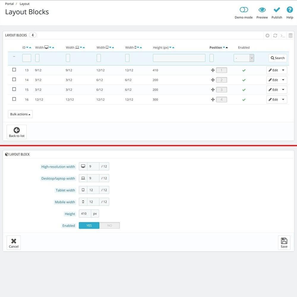module - Personalizzazione pagine - EVOLVE Portal - 6