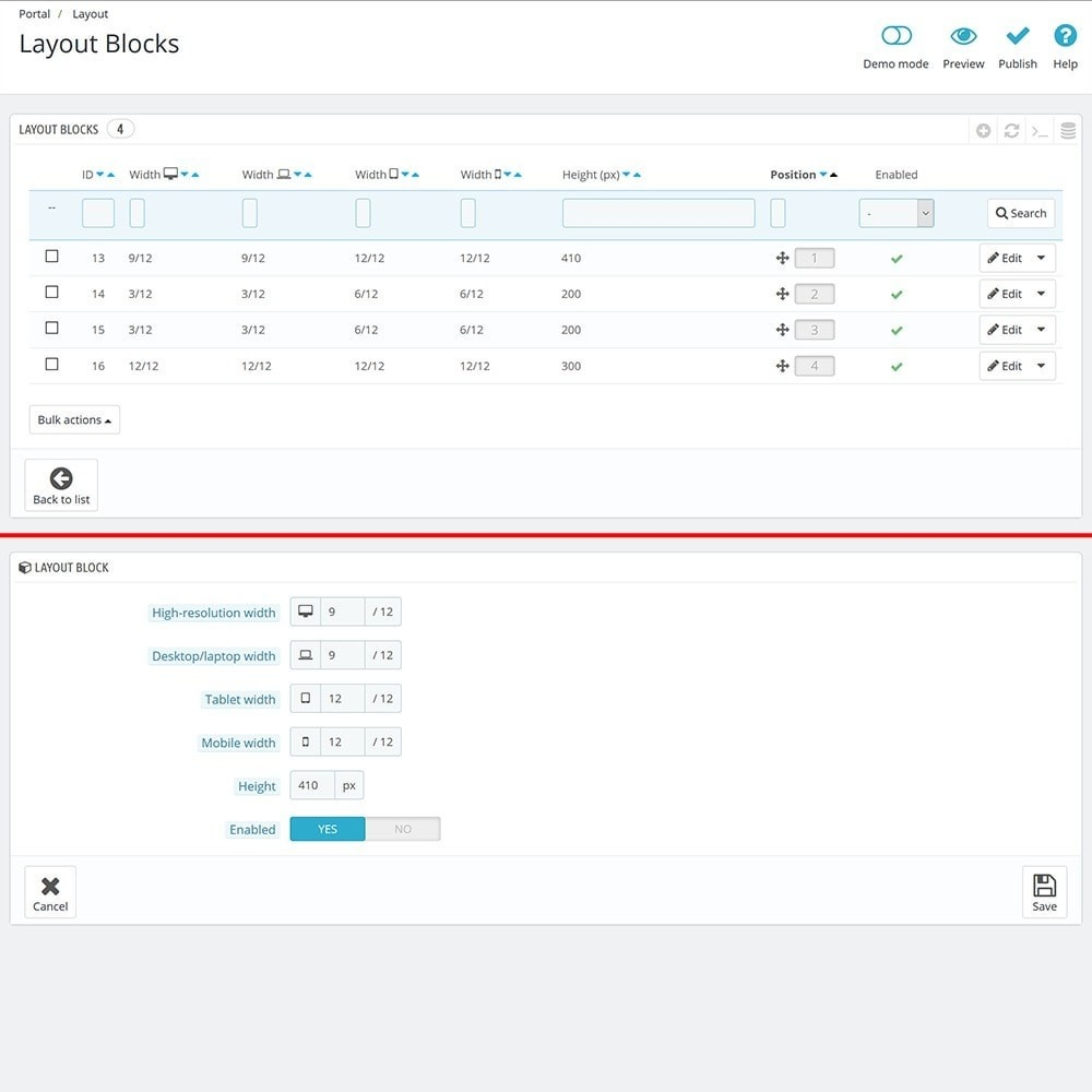 module - Personalizacja strony - EVOLVE Portal - 6