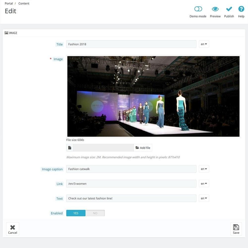 module - Personalizzazione pagine - EVOLVE Portal - 10