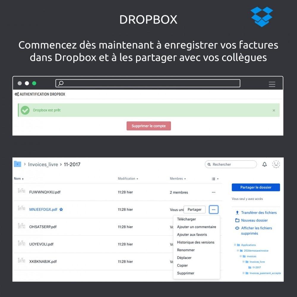 module - Migration de Données & Sauvegarde - Enregistrer vos factures: Dropbox, Google Drive, local - 5
