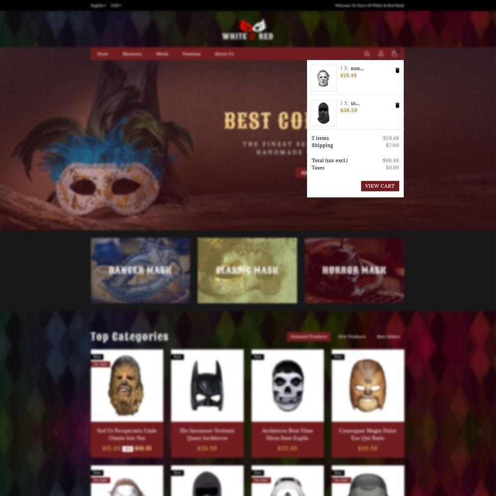 theme - Cadeaus, Bloemen & Gelegenheden - White & Red Mask Store - 6