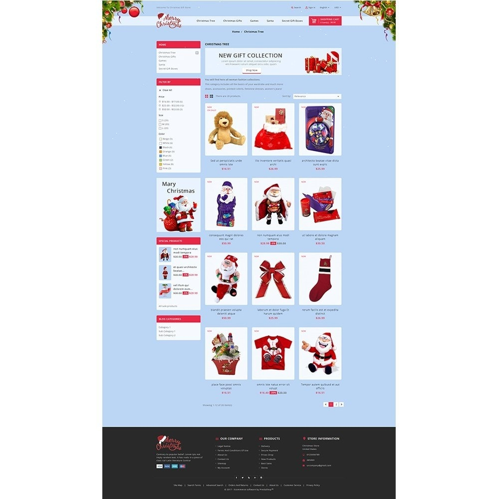 theme - Gifts, Flowers & Celebrations - Christmas Store - 3