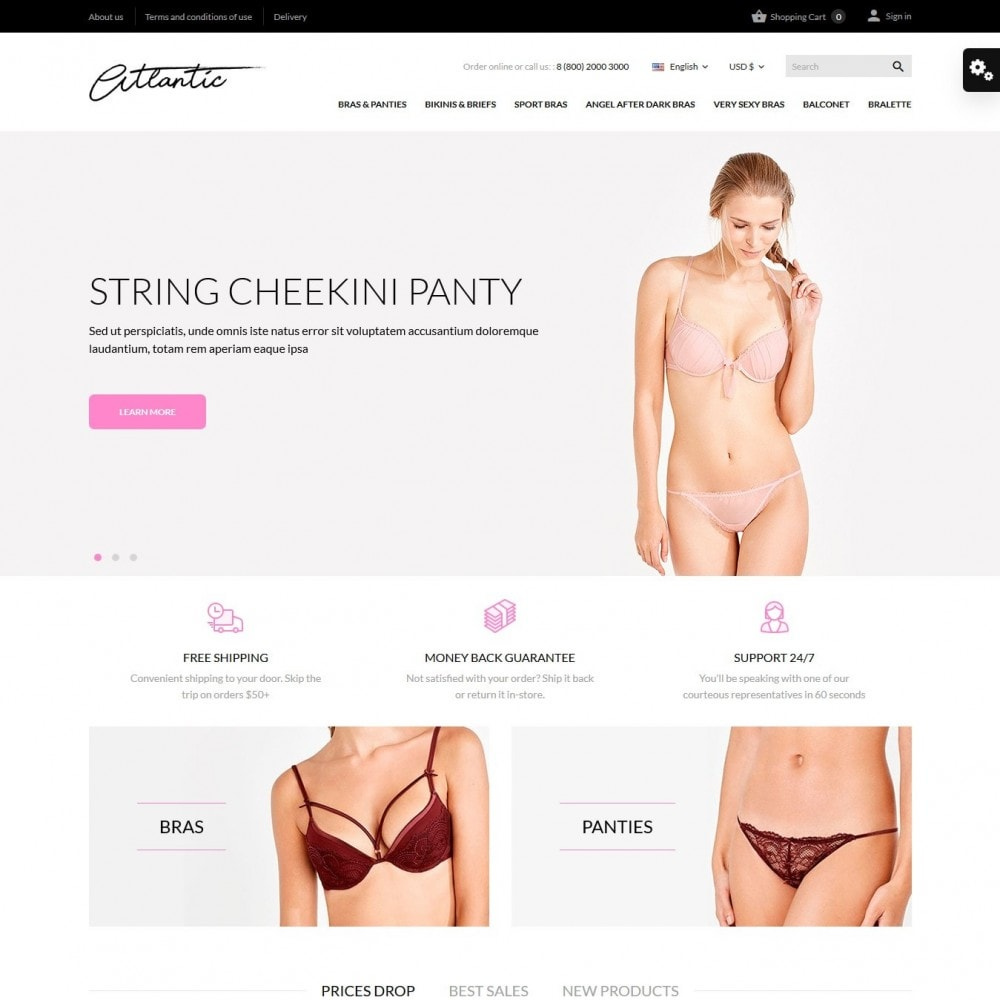 theme - Lingerie & Adultos - Atlantic Lingerie Shop - 2