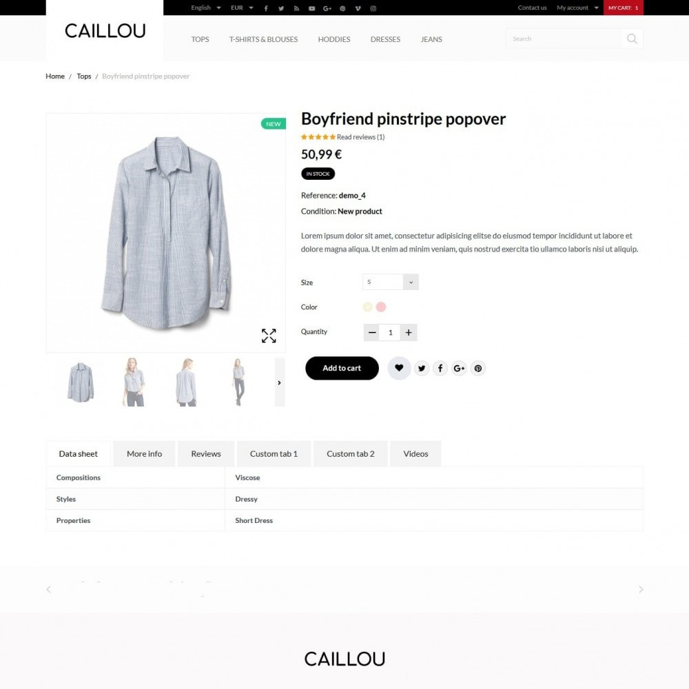 theme - Mode & Schuhe - Caillou Fashion Store - 7