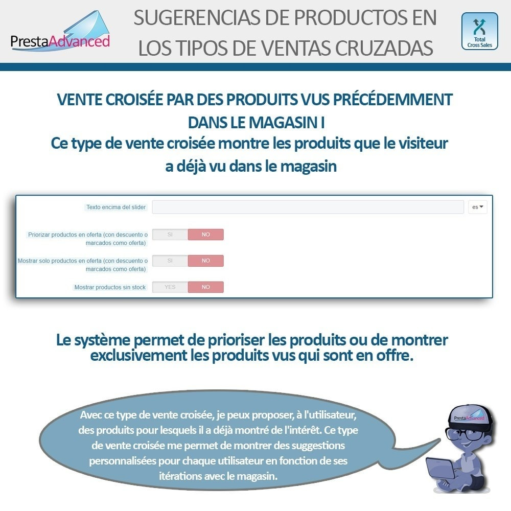 module - Vendas cruzadas & Pacotes de produtos - Total Cross Sales - Cross-selling Set up and control - 25