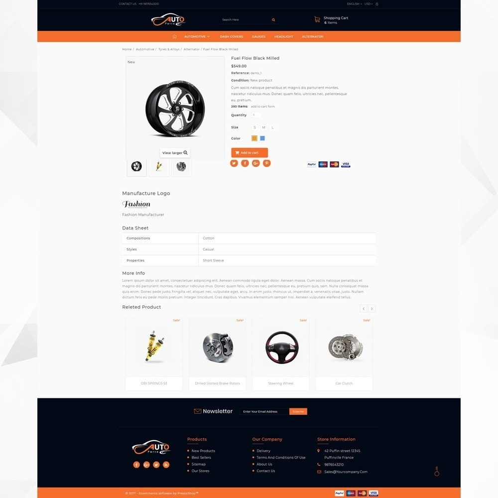 theme - Automotive & Cars - Auto Part - Automotive Shop - 4