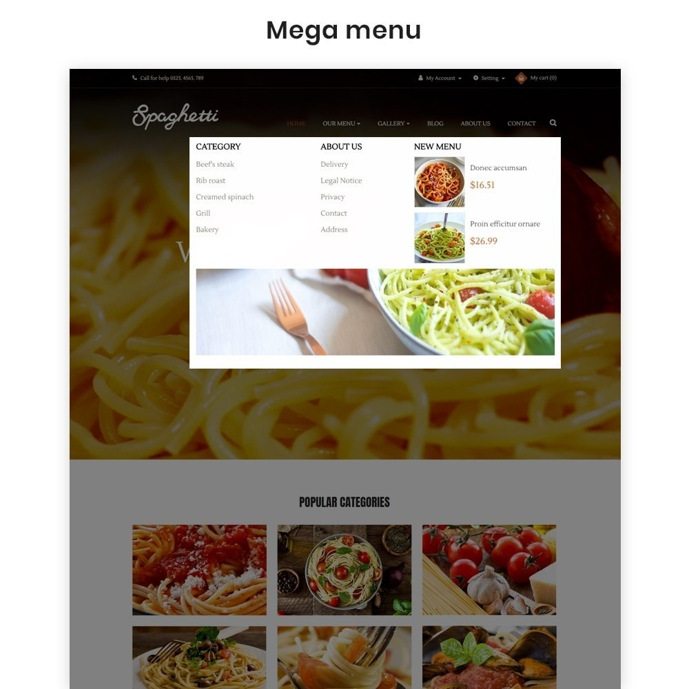 theme - Cibo & Ristorazione - Ap Spaghetti - 3