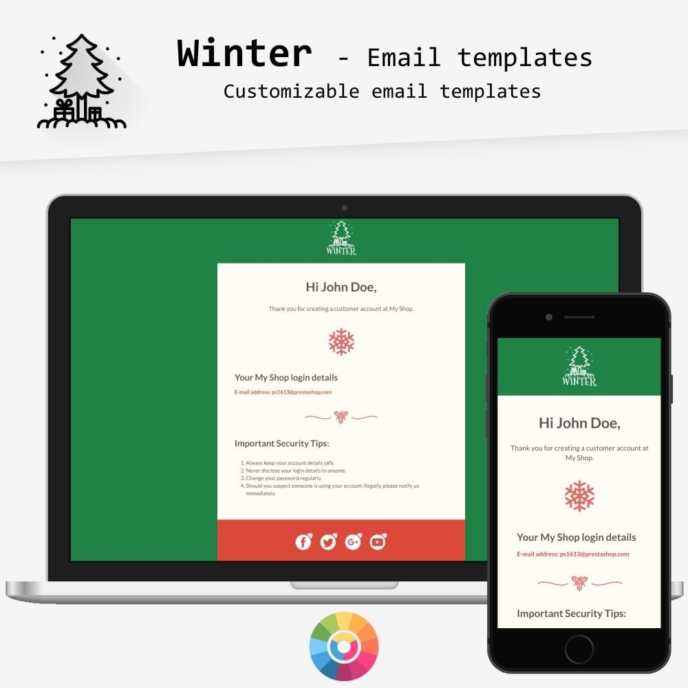 email - Email templates PrestaShop - Winter - Email templates - 1
