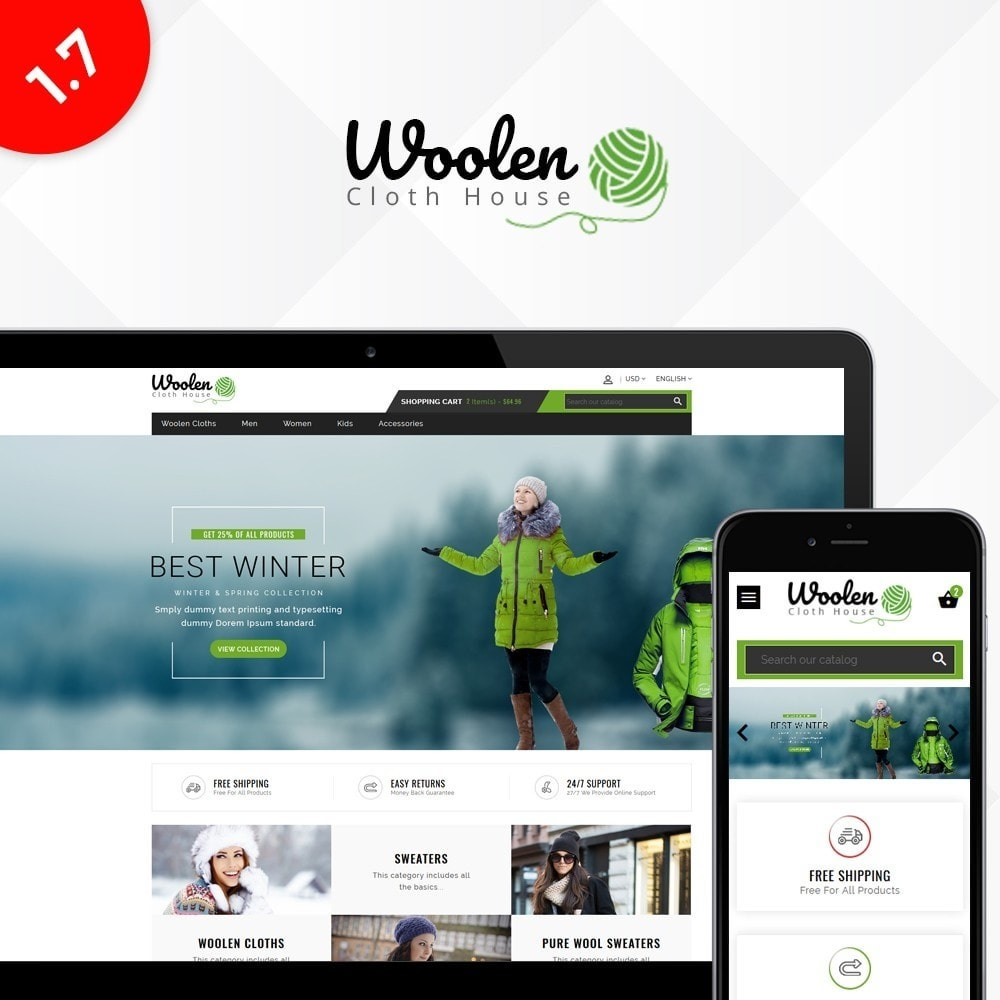 theme - Mode & Chaussures - Woolen Cloth Store - 1