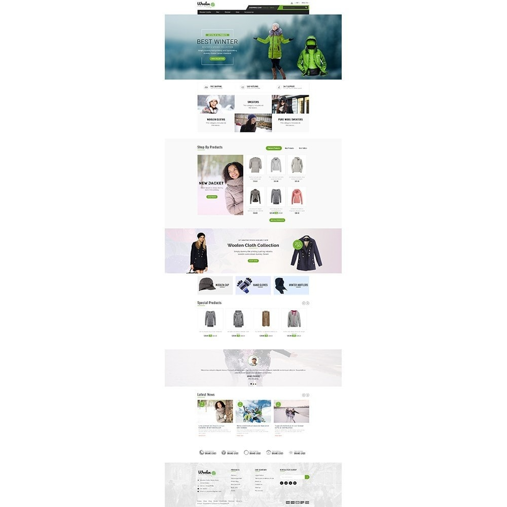 theme - Mode & Chaussures - Woolen Cloth Store - 2