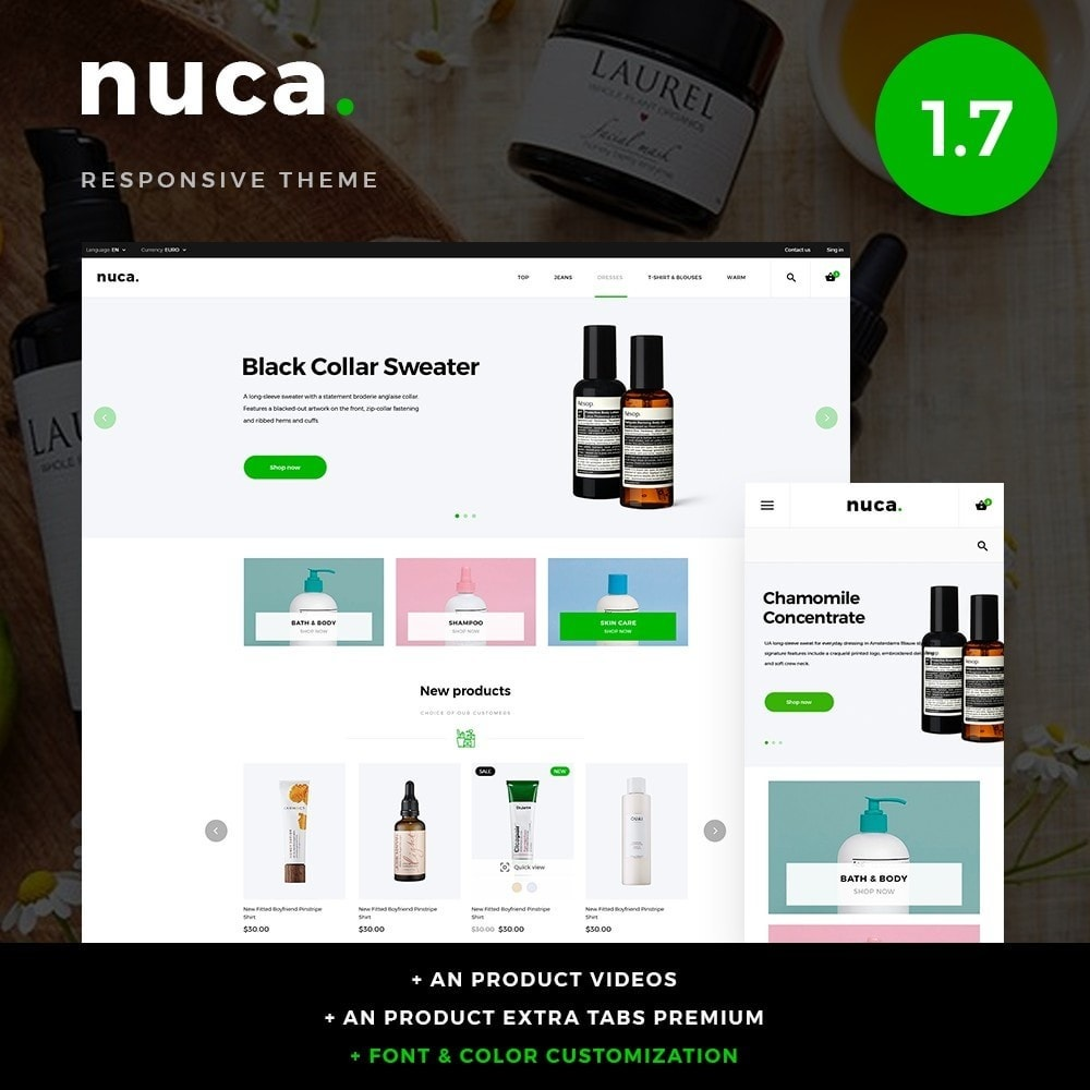 theme - Health & Beauty - Nuca Cosmetics - 1