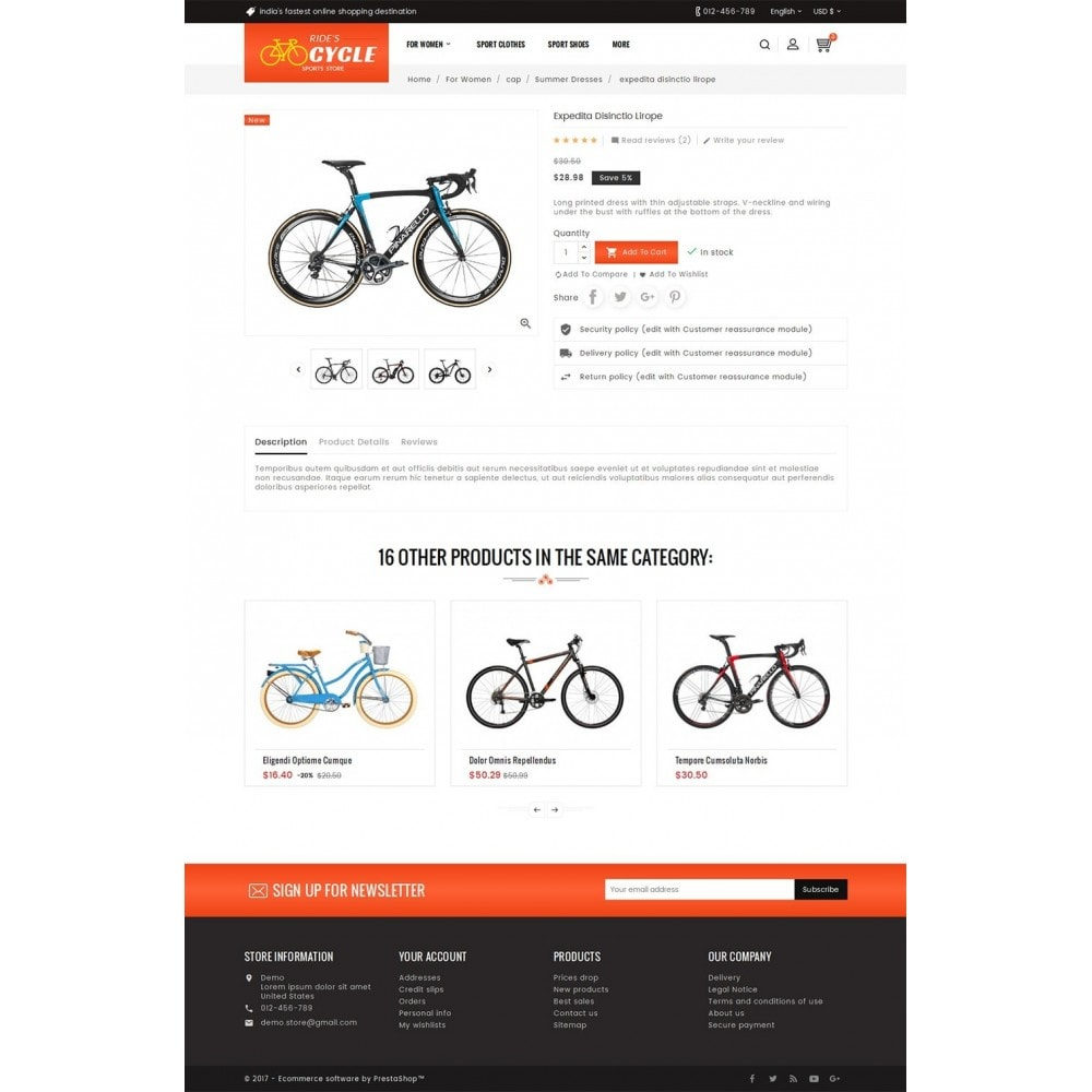 theme - Desporto, Actividades & Viagens - Sports Bicycle - 5