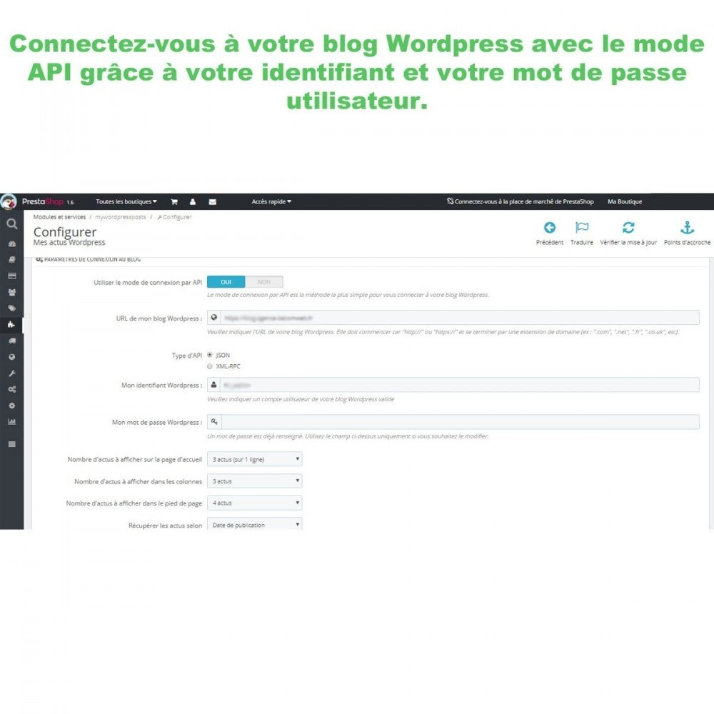 module - Blog, Forum & Actualités - Mes actus Wordpress - 4
