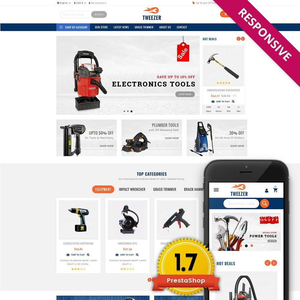 theme - Carros & Motos - Tweezer Tool Store - 1